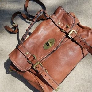 Mulberry Brown Leather Satchel
